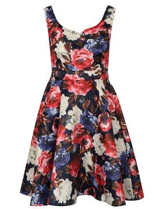Tmavomodré vzorované šaty Mela London