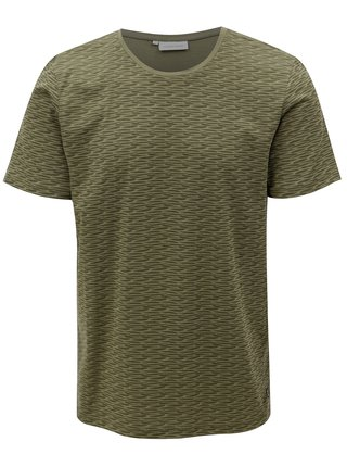 Khaki vzorované tričko Casual Friday by Blend