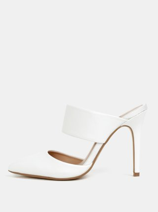 Sandale albe cu toc inalt Dorothy Perkins