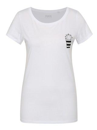 Bílé dámské tričko ZOOT Original Kaktus