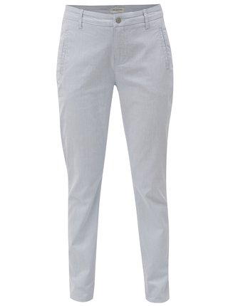 Pantaloni chino alb-albastru in dungi Selected Femme Falma