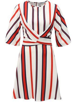 Červeno-biele pruhované šaty so zaväzovaním Haily´s Susy