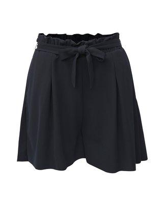 Pantaloni scurti albastru inchis cu talie inalta ONLY