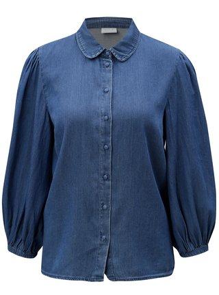 Camasa albastra din denim VILA Bista