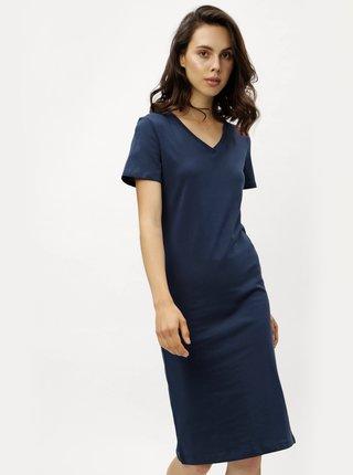 Rochie teaca albastru inchis cu maneci scurte ZOOT