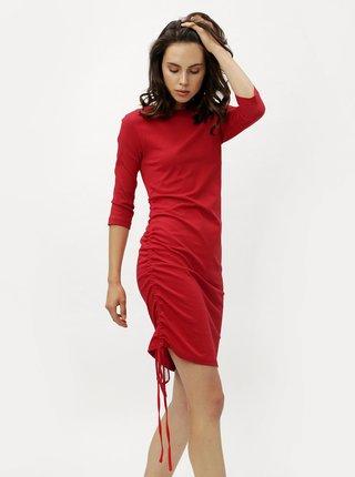 Červené šaty s 3/4 rukávom ZOOT