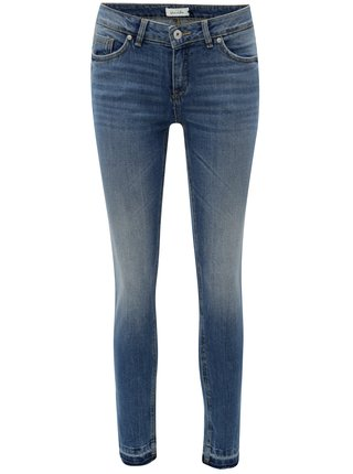 Blugi albastri slim fit din denim Blendshe
