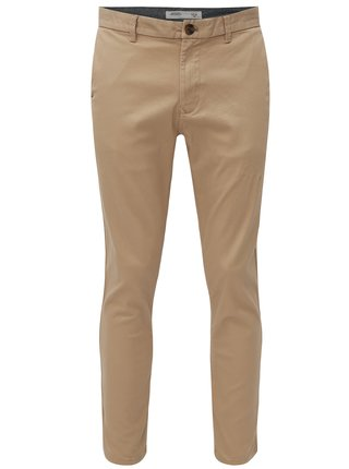 Béžové slim fit chino nohavice Burton Menswear London