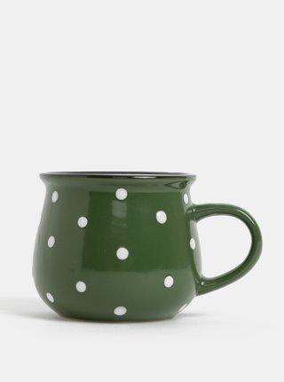 Zelený malý hrnček s bodkami Dakls