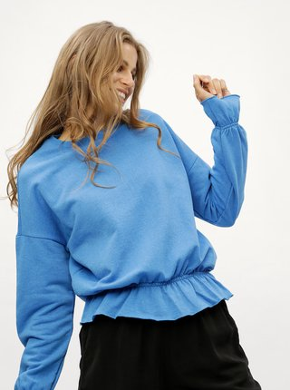 Bluza de dama sport albastra cu volane Noisy May