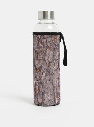 Sklenená fľaša v hnedom termo obale Kikkerland