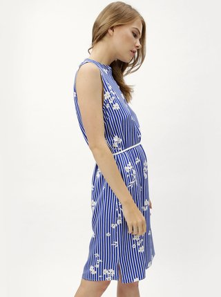 Bílo-modré vzorované šaty bez rukávů Nautica