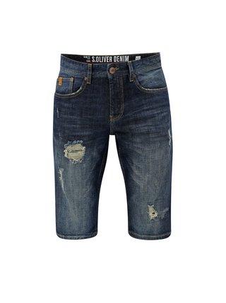 Pantaloni barbatesti albastri scurti slim fit din denim s.Oliver