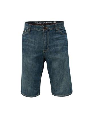 Pantaloni barbatesti scurti albastri regular fit s.Oliver