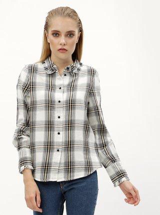 8d2493e8165f Biela károvaná košeľa VERO MODA Ketch