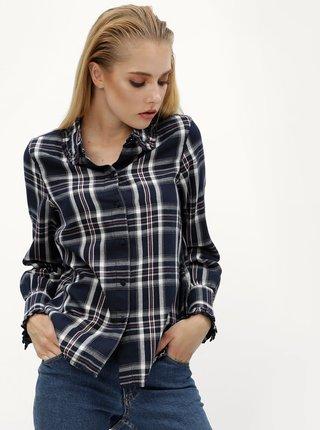 Tmavomodrá károvaná košeľa VERO MODA Ketch