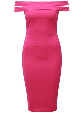 Rochie mulata roz inchis cu decolteu pe umeri AX Paris
