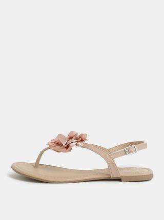 Starorůžové sandály s aplikací ve tvaru květiny Dorothy Perkins