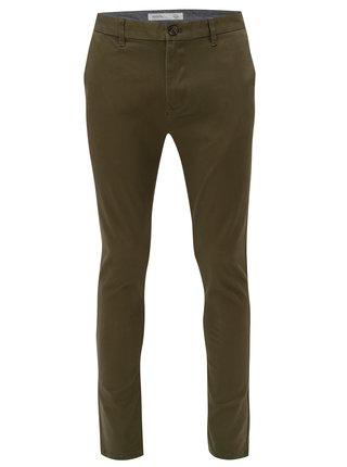 Khaki skinny chino kalhoty Burton Menswear London