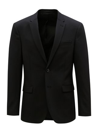 Sacou formal muscle fit negru Burton Menswear London