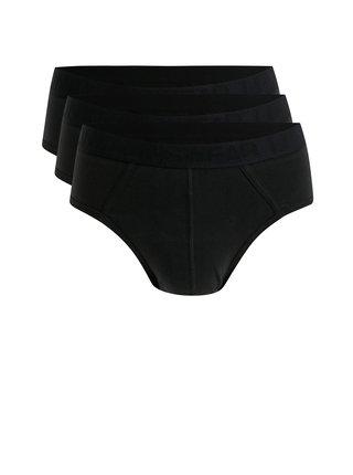 Sada tří slipů v černé barvě Burton Menswear London