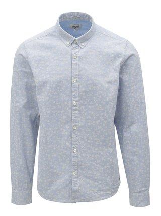 Camasa barbateasca albastru deschis cu model Garcia Jeans