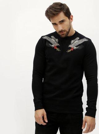 Bluza neagra cu vulturi brodati - Jack & Jones William