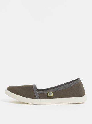 Pantofi de dama slip on kaki Oldcom Canvas
