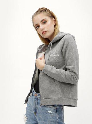Šedá dámská mikina na zip Calvin Klein Jeans