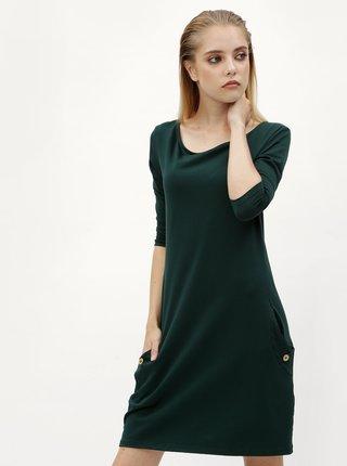 Tmavozelené rovné šaty s vreckami ZOOT