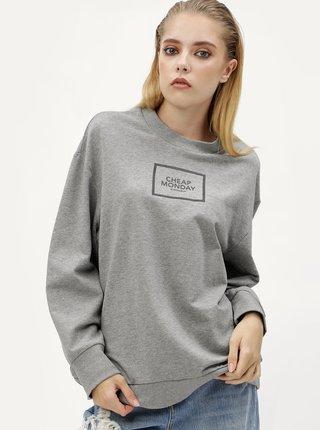 Bluza gri cu print pentru femei - Cheap Monday