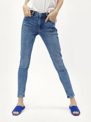 Modré dámské skinny džíny s vysokým pasem džíny Pepe Jeans Regent