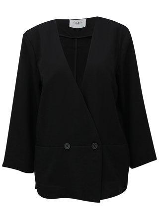 Čierne voľné sako s gombíkom Moss Copenhagen