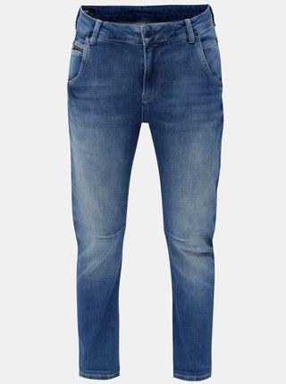 Modré dámské zkrácené straight džíny Pepe Jeans Topsy