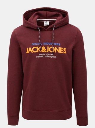 Vínová mikina s potiskem Jack & Jones Jacob