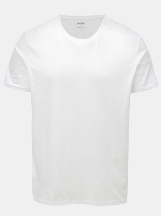 Biele regular fit basic tričko Burton Menswear London