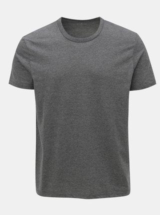 Šedé regular fit žíhané basic tričko Burton Menswear London