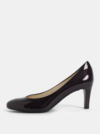 Pantofi mov inchis cu aspect lucios si toc Högl