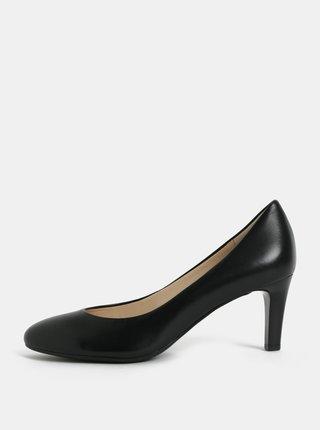 Pantofi negri din piele naturala cu toc Högl