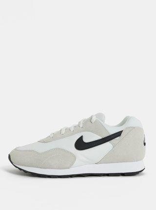 Tenisi de dama crem-alb din piele intoarsa Nike Blazer Low Leather