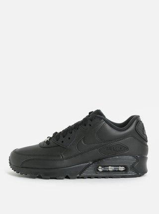Čierne pánske kožené tenisky Nike Air Max '90 Leather