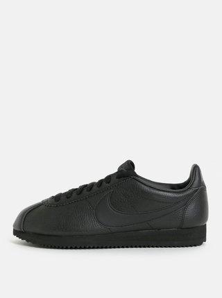 Tenisi barbatesti negri din piele naturala Nike Classic Leather