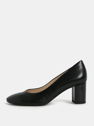 Pantofi negri din piele naturala cu toc inalt Högl