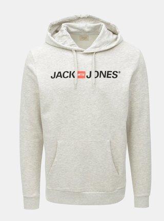 Hanorac gri deschis cu print Jack & Jones Corp