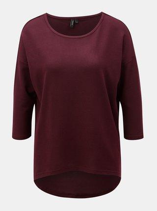 Vínový sveter s 3/4 rukávom VERO MODA Malena
