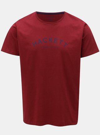 Vínové classic fit tričko Hackett London
