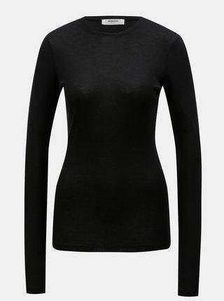 Tricou negru cu maneci lungi Moss Copenhagen