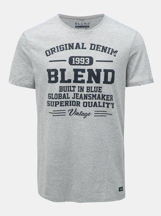 Tricou regular gri melanj Blend