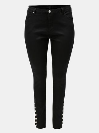 Černé slim džíny s vysokým pasem Zizzi
