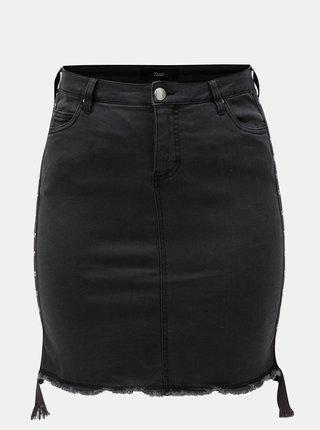 Tmavě šedá džínová pouzdrová sukně Zizzi